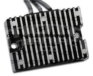 Accel Regulator Black - 01-05 Softail - 1