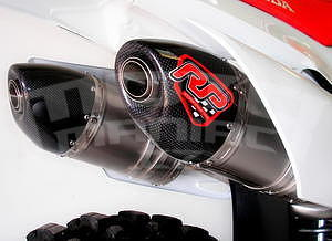 RP výfukový systém 2x ovál carbon/nerez mat - Honda CRF450R 2015 - 1