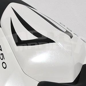 Ermax kryt sedla spolujezdce - Kawasaki Z750 2007-2012, 2010 white/black metal