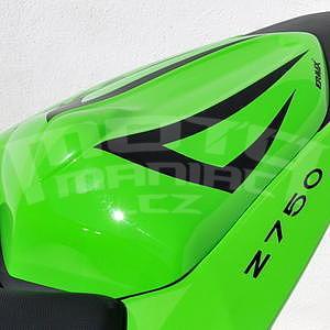 Ermax kryt sedla spolujezdce - Kawasaki Z750 2007-2012, 2009 pearl green/black metal