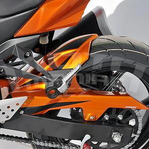 Ermax zadní blatník s krytem řetězu - Kawasaki Z750 2007-2012, 2010 amber metal (candy sparkling orange)