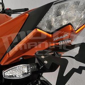 Ermax podsedlový plast s držákem SPZ - Kawasaki Z750 2007-2012, 2008 amber (pearl wildfire)