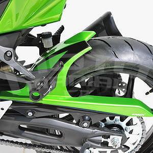 Ermax zadní blatník s krytem řetězu - Kawasaki Z750R 2011-2012, 2011 pearl green/black brillant (candy lime green/ebony)