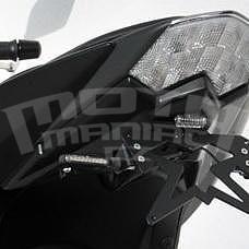 Ermax podsedlový plast s držákem SPZ - Kawasaki Z750R 2011-2012, mat black (flat ebony)
