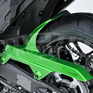 Ermax zadní blatník s krytem řetězu - Kawasaki ZZR1400 2006-2016, 2009 and 2011 pearl green (candy lime green)