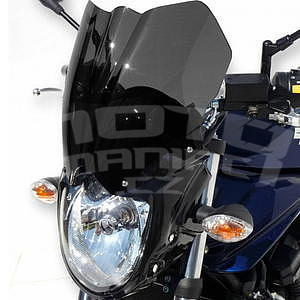Ermax přední maska s plexi - Suzuki Bandit 1250 2010-2014, 2010/2011 glossy black (YAY), plexi light black