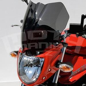 Ermax přední maska s plexi - Suzuki Bandit 650 2009-2011, bez laku/černé kouřové plexi - 1