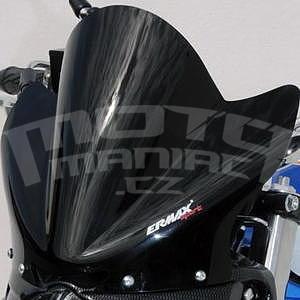 Ermax Sport plexi větrný štítek 22cm - Suzuki Gladius 2009-2015, černé neprůhledné