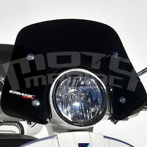 Ermax Piccolo plexi větrný štítek 30cm - Vespa GTS-GT 125/300 2007-2015, černé neprůhledné