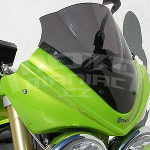 Ermax přední maska s plexi 25cm - Triumph Street Triple 2007-2011, 2008/2009 pearl green (roulette green)with light black screen
