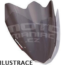 Ermax Sport plexi větrný štítek 28cm - Kawasaki Z750R 2011-2012, černé kouřové