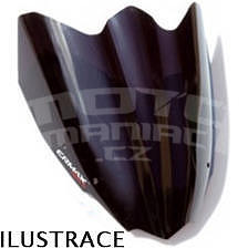 Ermax originální plexi 55cm - Piaggio X8/Evo 125/150/200/250/400 2004-2015, černé neprůhledné