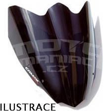 Ermax Sport plexi větrný štítek 28cm - Kawasaki Z750R 2011-2012, černé neprůhledné
