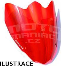 Ermax Sport plexi větrný štítek 28cm - Kawasaki Z750R 2011-2012, červené
