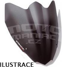 Ermax Mini Sportivo plexi štítek 40cm - Vespa S 50/125 2010-2015, černé satin