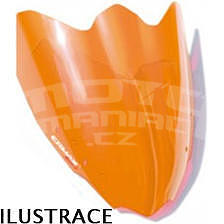Ermax turistické plexi - Suzuki GSX-R600/750 2008-2010, oranžové fluo