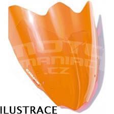 Ermax Sport plexi větrný štítek 22cm - Suzuki Gladius 2009-2015, oranžové fluo