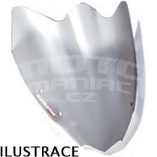 Ermax Sport plexi větrný štítek 28cm - Kawasaki Z750R 2011-2012, šedé satin