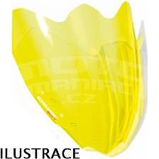 Ermax Aeromax plexi větrný štítek 27cm - Suzuki GSR600 2006-2011, žluté  fluo
