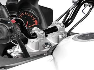 SW-Motech úprava pozice řidítek průměr 22mm, 31mm nahoru, 22mm dozadu stříbrné - 2
