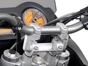 SW-Motech Vario zvýšení řidítek stříbrné - 2