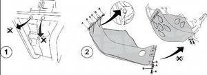 Acerbis kryt pod motor SX 450 09, EXC 4T 08-11 - 2