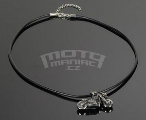 Necklace Bike Skull, Leather Necklace 45-52 cm - 2
