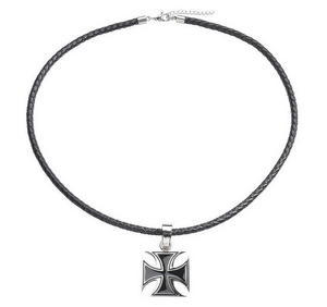 Necklace Iron Cross, Leather, 45-52 cm - 2