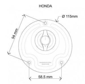 Barracuda uzávěr nádrže - Honda - 2