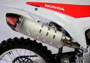 RP výfukový systém ovál carbon/titan - Honda CRF250R 2014-2015 - 2