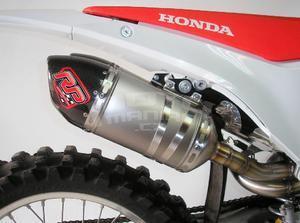 RP výfukový systém 2x ovál carbon/titan - Honda CRF250R 2014-2015 - 2