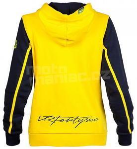 Valentino Rossi VR46 dámská mikina žluto-modrá - 2