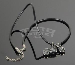 Necklace Bike Skull, Leather Necklace 45-52 cm - 3