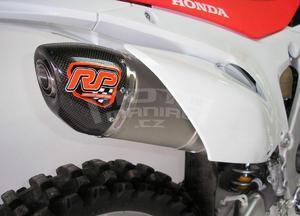 RP výfukový systém ovál carbon/nerez mat - Honda CRF250R 2014-2015 - 3