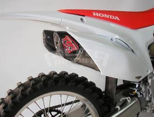 RP výfukový systém 2x ovál carbon/titan - Honda CRF250R 2014-2015 - 3