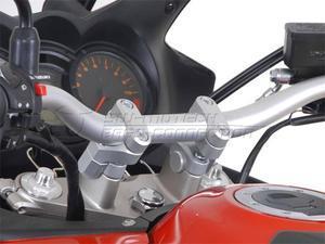 SW-Motech Vario zvýšení řidítek stříbrné - 4