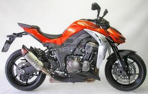 RP 2x koncovka ovál carbon/nerez lesk - Kawasaki Z1000 2014-2016 - 5
