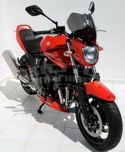 Ermax přední maska s plexi - Suzuki Bandit 650 2009-2011, bez laku/černé kouřové plexi - 5