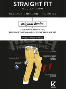 John Doe Kevlar Denim Jeans tmavě modré pánské - 6