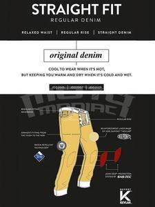 John Doe Kevlar Denim Jeans černé pánské - 6