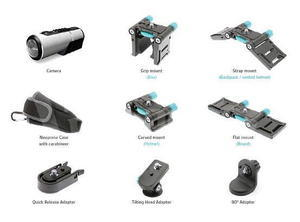 Kitvision Rush HD100W voděodolná sportovní kamera, full HD, Wi-Fi, stříbrná - 6