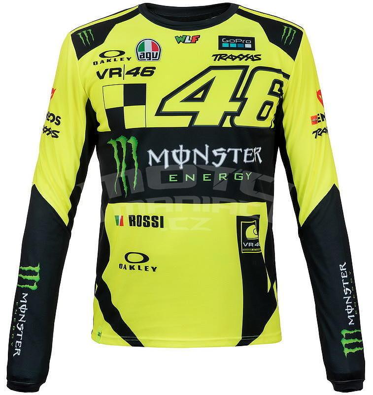 3d5df402111 Valentino Rossi VR46 pánské triko dl. rukáv - edice Monster Replica ...